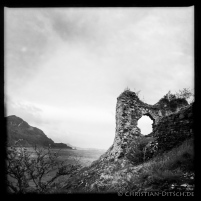 Die Strome Castle Ruine am Loch Carron. 21.5.2015