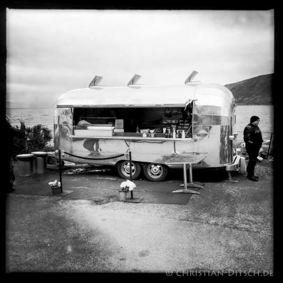 Fish and Chips im Küstenort Applecross in den North West Highlands. 23.5.2015