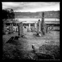 """Der Lochcarron """"Old Burial Grund-Friedhof"""" am Loch Carron. 24.5.2015"""