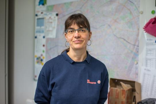 """Nicole H., 39 Jahre, Leiterin der Hausnotrufzentrale der Johanniter. """"Hausnotruf ist Hilfe auf Distanz."""""""
